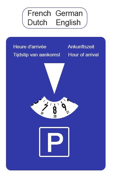 Parkeerschijf met klok